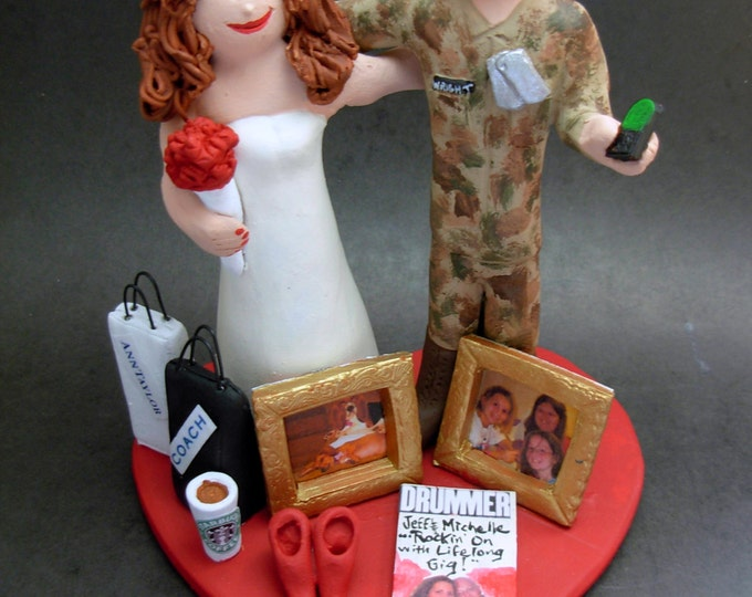 Army Groom Wedding Cake Topper, Soldier's Wedding Cake Topper, Military Wedding Cake Topper, Air Force/Navy and Army Wedding Cake Topper