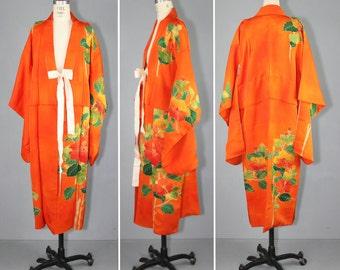 silk kimono / 1950s / wedding kimono / MARMALADE vintage kimono