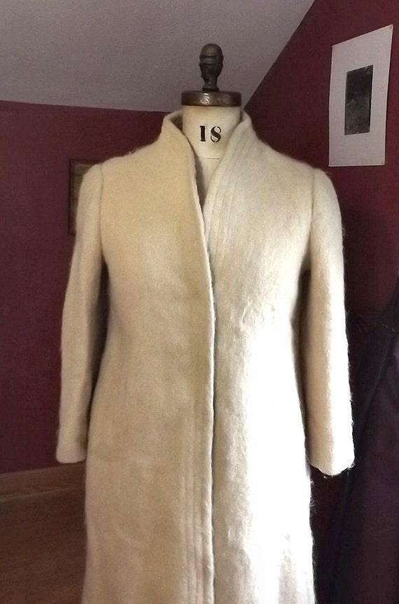 small wool dress coat fuzzy fashion vintage