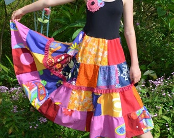 Girls/Tween Vibrant Jewel Patchwork Dress size 12-14-16
