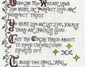 Book of Shadows Parchments The Wiccan Rede (5 out of 6 + bonus page) Enchanting Grimoire by Carole Anzolletti