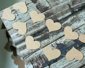 Wedding Garland . 10 ft paper garland . Farmhouse Wedding . Rustic Wedding Table . Wedding Isle Runner Decorations . Kraft Heart Garland