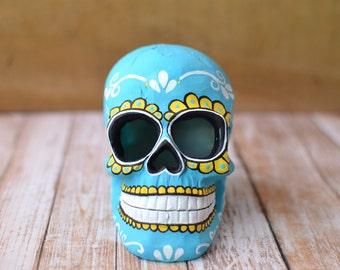 Blue Sugar Skull Day of the Dead
