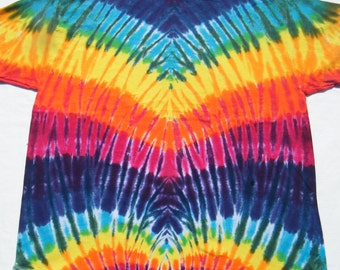 tie dye shirt Rainbow V tye die tiedye 5XL 4XL 3XL 2XL available CUSTOM MADE to order