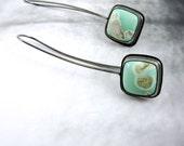 Australian Variscite Earrings // Sterling Silver