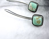 Australische Variscite Ohrringe / / Sterling Silber