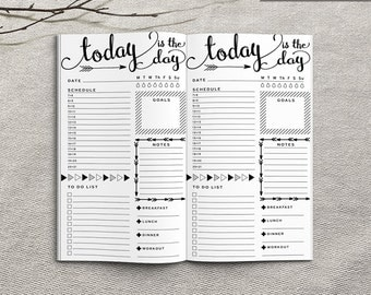 Printable Daily Planner Inserts, Personal Daily Planner Inserts, Printable Personal Notebook Daily planner inserts, PDF file