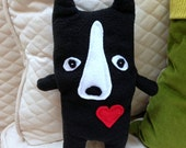 Bobby ~ The Boston Terrier Bummlie ~ Stuffingless Dog Toy ~ Ready To Ship Today