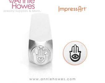 Impressart Metal Stamp for Jewelry Stamping - Hand of Miriam Hamsa Stamp