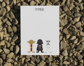 Star Wars Personalized Stationery - Notecards or Notepads - Personalized Stationery - Gift Giving
