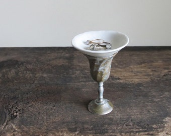 Vintage China and Maurice Duchin Goblet Ring Dish