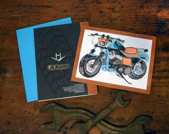 Motorcycle & Leather - Card for Men