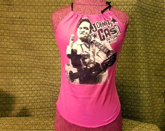 Bella Tank Top - Johnny Cash - Outlaw Music - Small