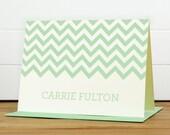 Personalized Stationery Set / Personalized Stationary Set - CHEVRON Custom Personalized Note Card Set - Modern Bold