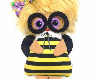 Beatrice B. Bumble  - One of a Kind Kawaii Art Doll