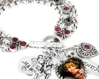 Silver Valentine Jewelry - Valentine Bracelet - Love Jewelry - Love Bracelet - Heart Bracelet - Be My Valentine
