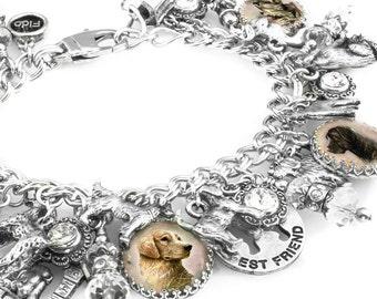 Pet Bracelet, Dog Lover Jewelry, Dog Photo, Pet Photo, Pet Memorial, Personalized Pet Bracelet