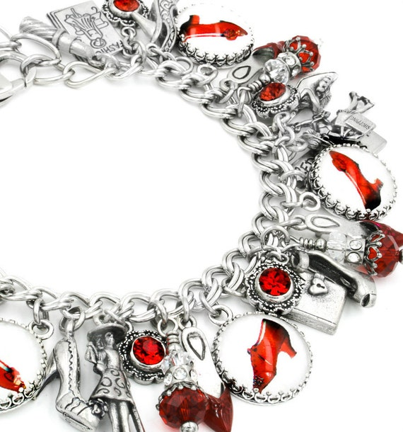 Shoe Charm Bracelet: Shoe Jewelry Red Shoes Shoe Bracelet High Heel Shoes Dance