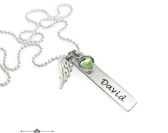 Sterling Silver Angel Baby Jewelry - Infant Loss - Memorial Necklace