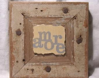 Heart Art - Valentine - Amore - Mixed Media Wood Collage - Celebratory - Unique Love Keepsake - Minimalist - Wall Art