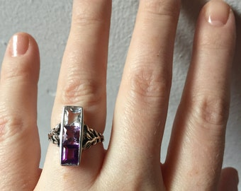 Amethyst Ombre in Sterling Silver- The Indigo Ring