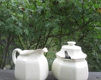 Mikasa Sugar Bowl and Creamer - Romantics