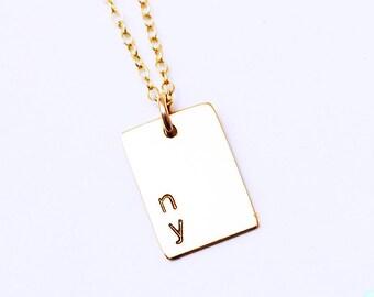 Stub Bar Necklace