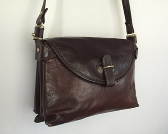 Bianca - Vintage Italian Leather Satchel.