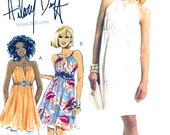 Halter tunic dress  Hilary Duff sewing pattern Wedding party McCalls 5880 Size 12 to 18 UNCUT Bridesmaid dress pattern