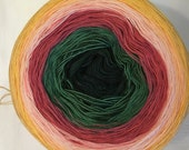LACE WEIGHT 2-ply Gradient tied cotton 100g Begonia Garden v.1
