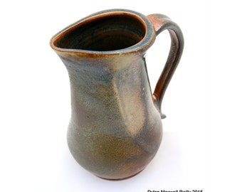 Handmade Pottery Pitcher - Dark Earthy Colored