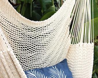 Navy and White Nipa Palm Leaf Throw Pillow - Square - Boho Beach Decor - Palm Leaf Decor - Palm Trees - Tropical Print Pillow - Safari
