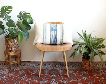 Embroidered Indigo Fringe Pillow, Mudcloth Pillow, Lumbar Pillow Cover, Linen Cotton Pillow, 15x25, Bohemian Decor, Boho Home, norwegianwood