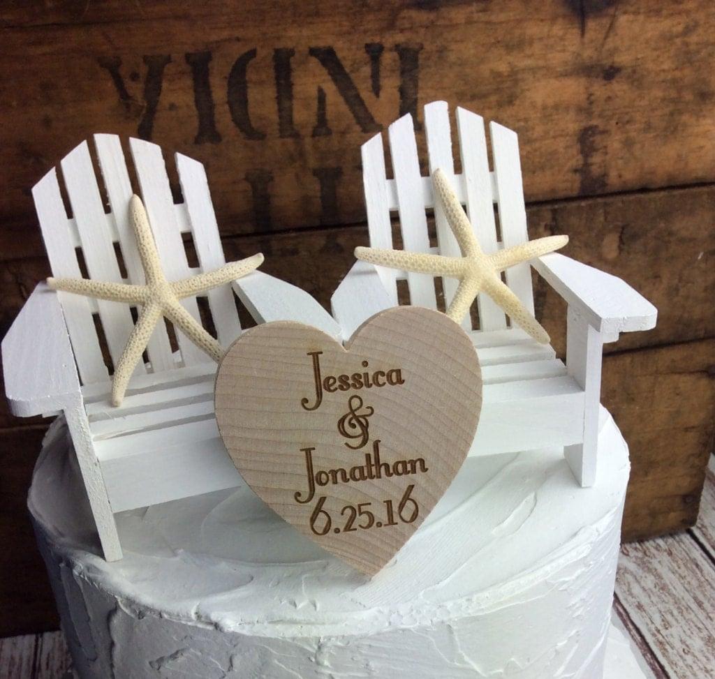 White Cake Topper White Chair Cake Topper White Wedding