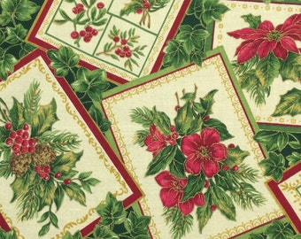 Christmas Fabric 11 1/2 x 42  remnant