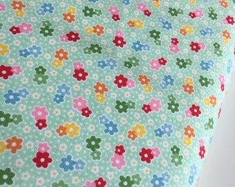 Backyard Roses, Backyard Roses Mini Floral in Mint Green fabric, Discount fabric, Riley Blake Fabrics, Fabric by the yard, Choose your cut