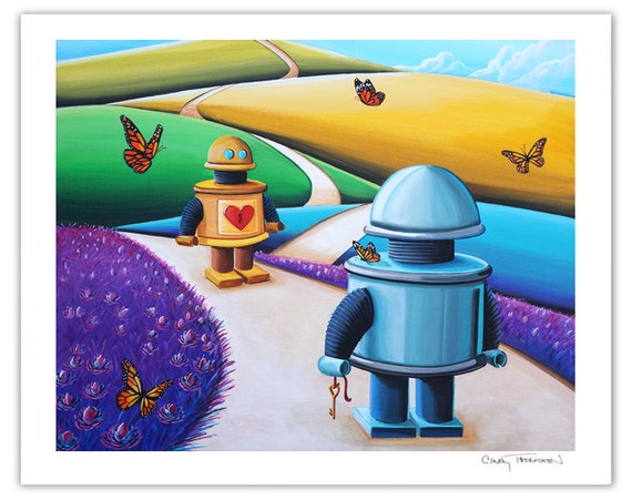 Robot Series Limited Edition - The Key To My Heart - Signed 8x10 Semi Gloss Robot Print (4/10)