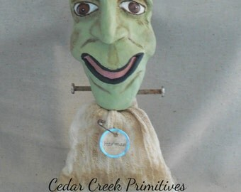 "Paper Clay Halloween Frankenstein  ""Herman Munster"""