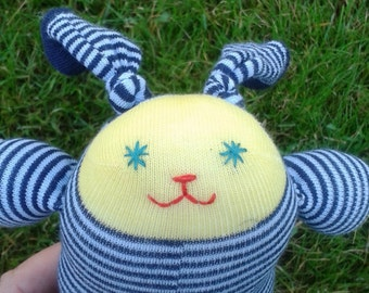 Sock Bunny - Yellow and black stripes