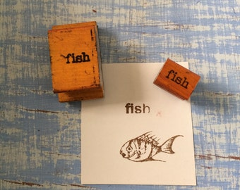 FISH rubber stamp, Vintage Classroom Rubber Stamp, Teachers Rubber Stamp, Old School, Old Rubber Stamp, Tropical Fish Rubber Stamp, Nautical