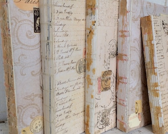 Old Rustic Book, PER BOOK, Rustic Fall Decor, French Country, Books for decor, Trending, Rustic Wedding, wabi sabi, Decor, Uncovered Books