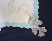 Silver Oak Leaf Necklace, Real Oak Silver Leaf, Real Oak Leaf Necklace, Lacey Oak Necklace, Sterling Silver, LC136