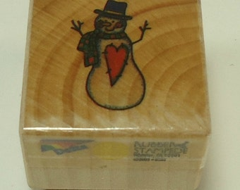 Snowman Wood Mounted Rubber Stamp By Rubber Stampede
