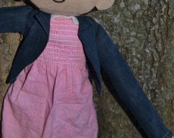 Large Handmade Stranger Things Eleven 011 Plush Doll