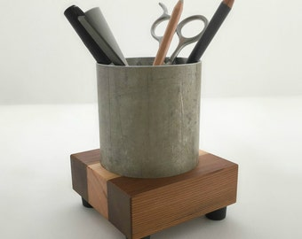 Industrial Style Pencil Holder - Pencil Cup - Desk Accessories - Office Decor - Office Organization - Pen Cup - Desktop Organizer