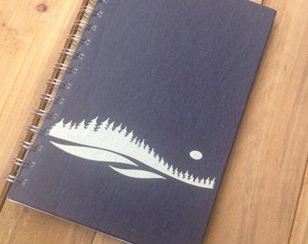 Vintage Landscape Notebook // Navy  Book Journal