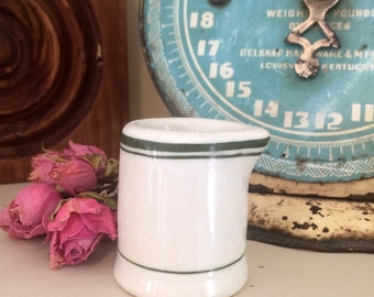 Old Hall Ironstone Creamer with Green Band