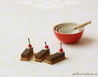 Dollhouse Miniature Food - Cherry Choconoisette