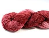 Brick...House--hand dyed heavy lace/light sock weight yarn, superwash Merino(822ds/150gm)