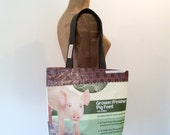 Tote Bag, Recycled Piggy Feed Bag, Maine made, eco-friendly